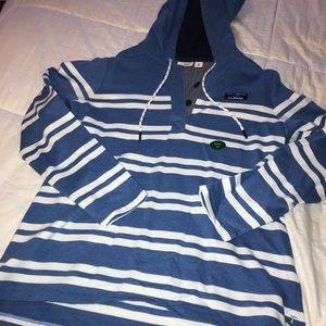 LL Bean Hooded Stripe Sweatshirt